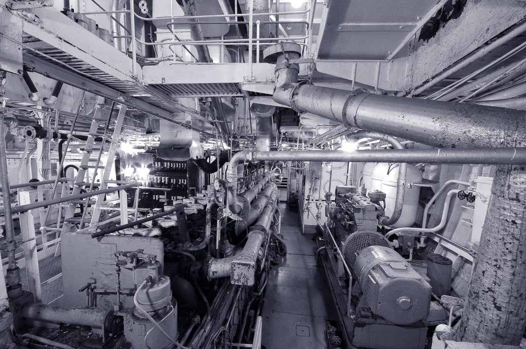 Engine room of Ross Tiger