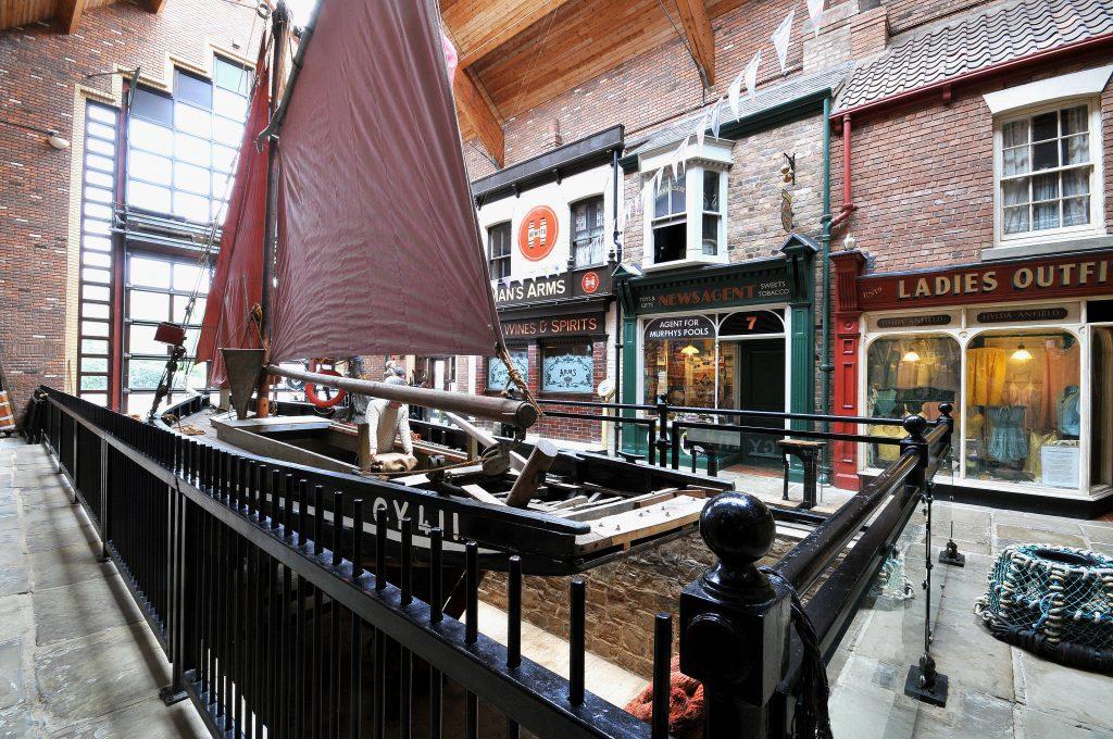 Boat inside Fishing Heritage Centre