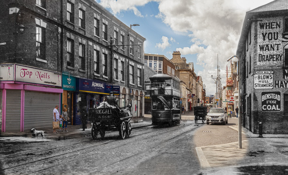 Victoria Street Grimsby, in history image